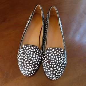 J.Crew Factory Cora Leopard Calf Hair Loafers (9M)
